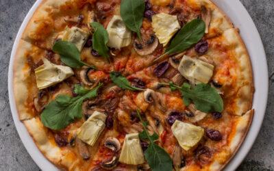 Artichoke, Caramelised Onions, Olives, Mushroom (V)